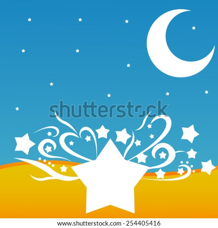 background with stars and moon