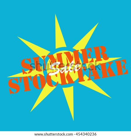 Background with text Summer Stocktake,vector illustration - stock vector