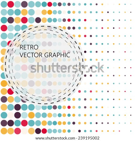Background with the coloured circles in a vector. Vintage color. - stock vector