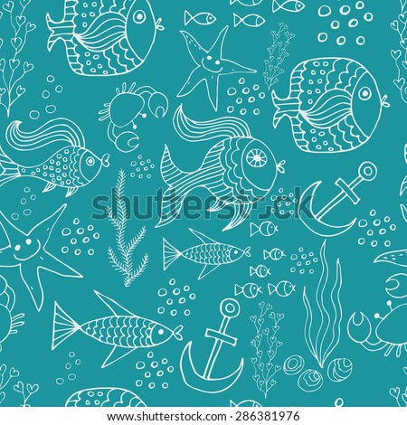 background with the image of sea fish