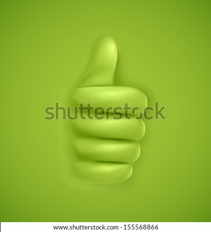 Background with thumbs up. Illustration contains transparency and blending effects, eps 10 - stock vector
