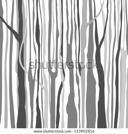 Background with Trees - stock vector