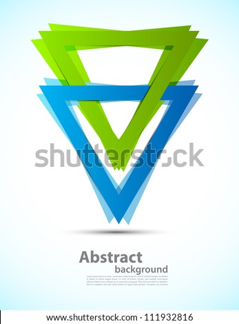 Background with triangles - stock vector