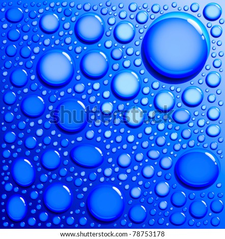 background with water drops - stock vector