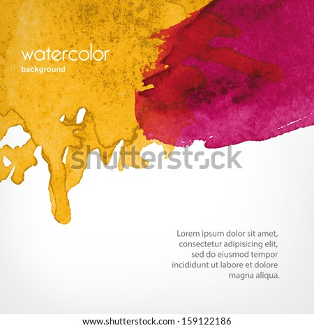 background with Watercolor splashes in vector - stock vector