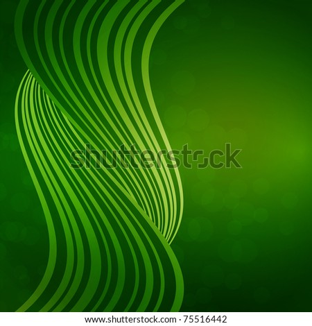 background with waves of light - stock vector