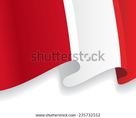 Background with waving Peruvian Flag. Vector illustration