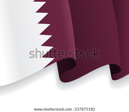 Background with waving Qatar Flag. Vector illustration Eps 8. - stock vector