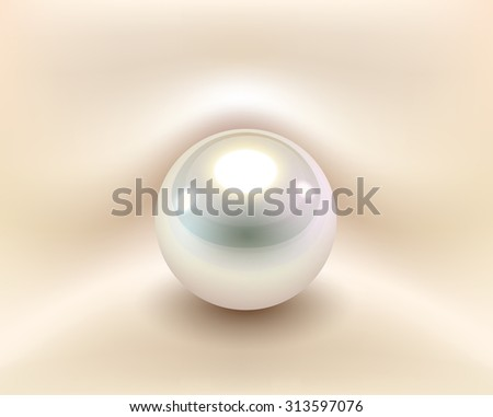 Background with white pearl, vector illustration. - stock vector