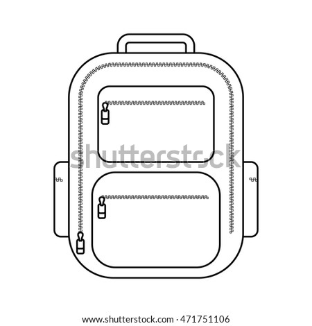 Backpack line icon. Vector illustration.