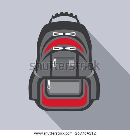 Backpack vector - stock vector