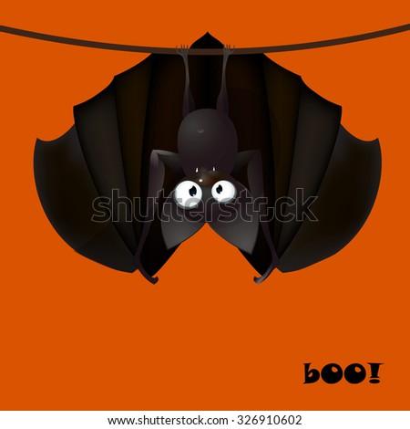 backround cartoons bat funny - Halloween vector illustration  - stock vector