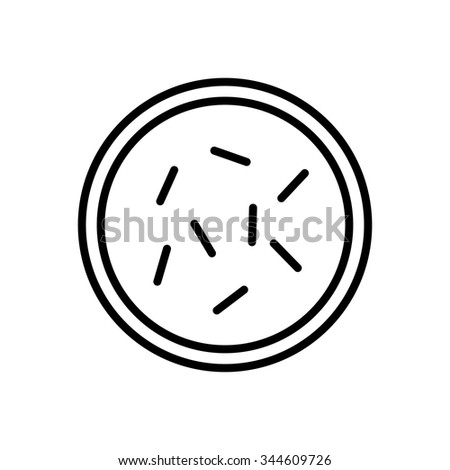 Bacteria and germs  icon in thin line style - stock vector