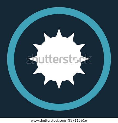 Bacterium vector icon. Style is bicolor flat rounded symbol, blue and white colors, rounded angles, dark blue background. - stock vector