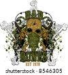 Bad Bones - Tshirt design - stock vector