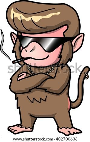 Bad boy of monkey - stock vector