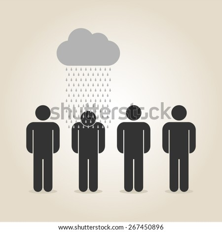 bad luck unlucky misfortune bad times vector illustration - stock vector