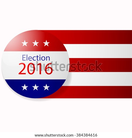 Badge Election 2016. Icon, coin of election. Vector illustration - stock vector