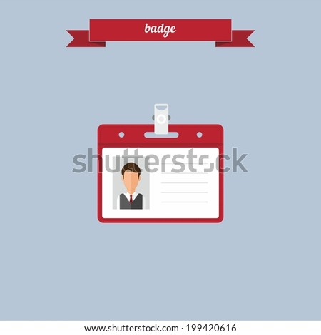Badge. Flat style design - vector - stock vector