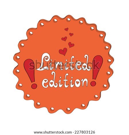 Badge Limited edition - stock vector