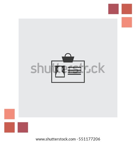 Badge office card Vector Icon.