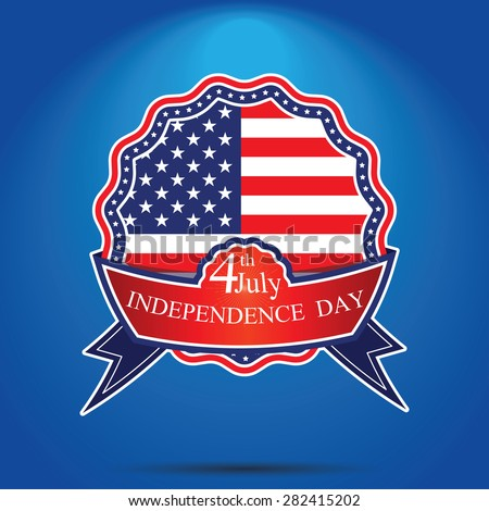 badgeAmerican iindependence day 4 th july. Happy independence day badge