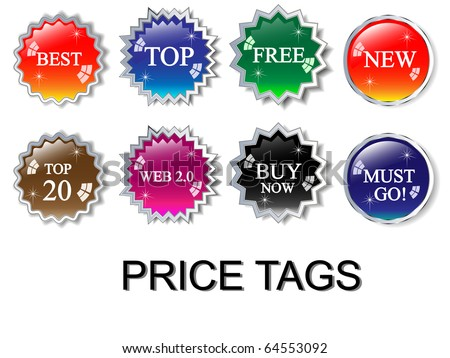 Badges and price tags-vector - stock vector