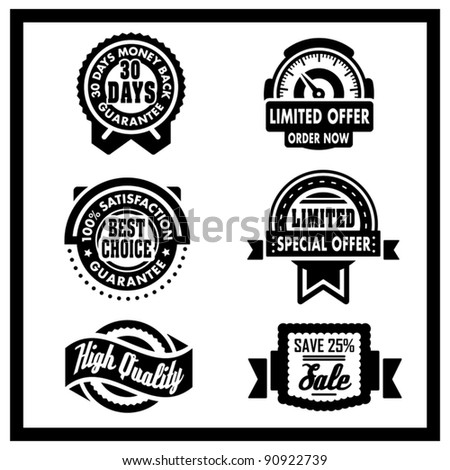 Badges Collection - square series - stock vector