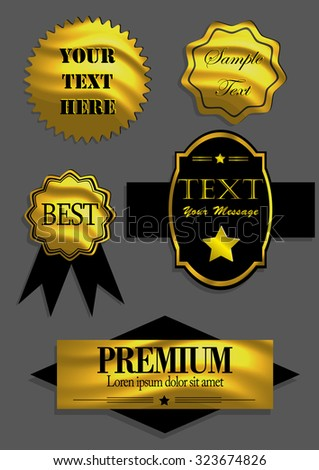 Badges,ribbons and labels set. Vector illustration. Isolated on background.