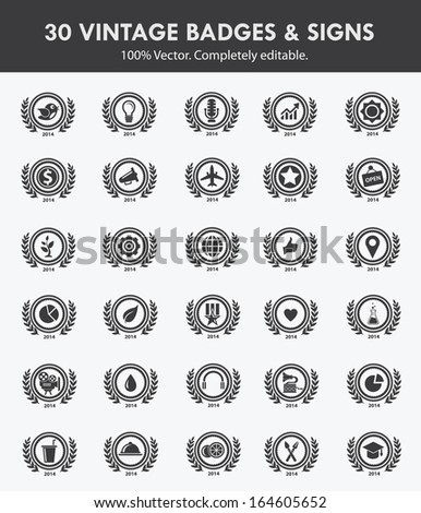 Badges & Sign,Collection of Premium Quality and Guarantee Labels,vector - stock vector