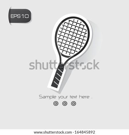 Badminton symbol,Black version,vector - stock vector