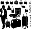 bag collection - vector - stock vector