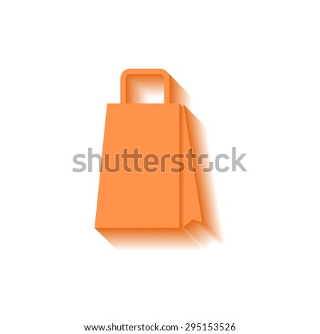 bag icon with long shadow