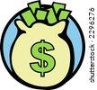 bag of money - stock vector