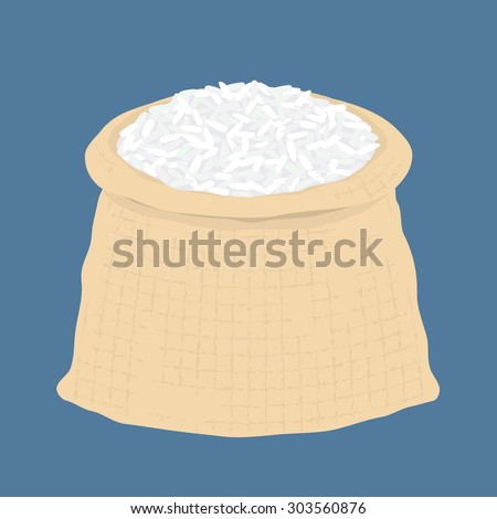 Bag of rice, vector