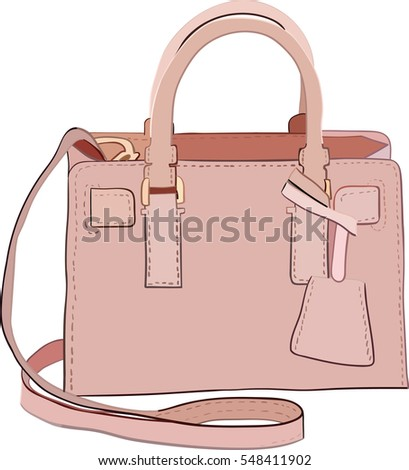 Bag powdery pink color.