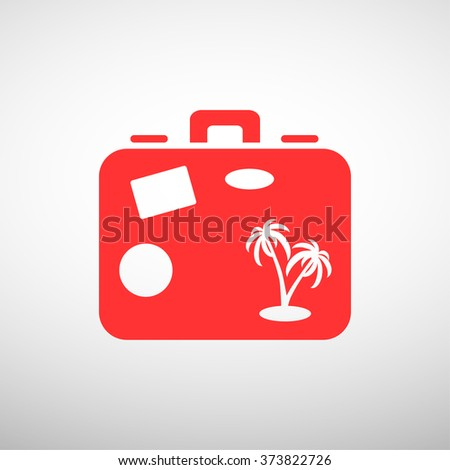 Bag tourist web icon. vector design - stock vector