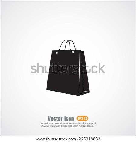 bag vector icon - stock vector