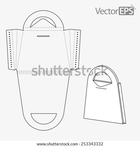 Bag with carrying handle - stock vector
