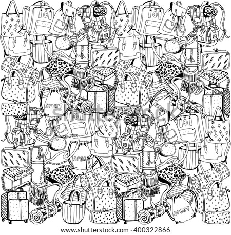 Bags Collage - stock vector
