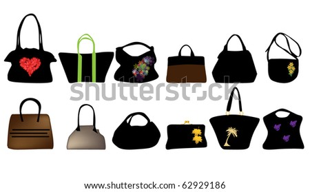 bags for woman - stock vector