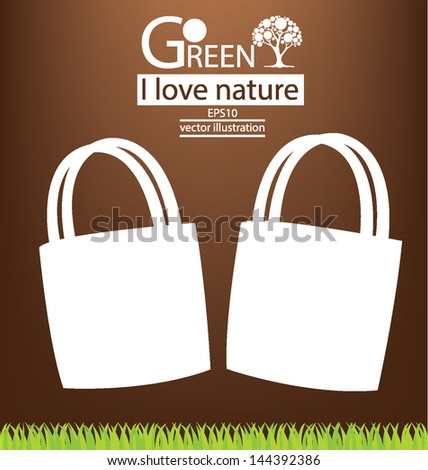 Bags. Go green concept. vector illustration.