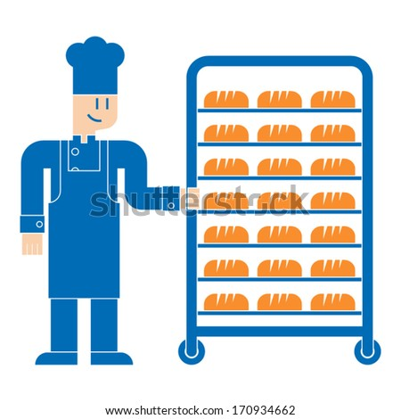 baker icon - stock vector
