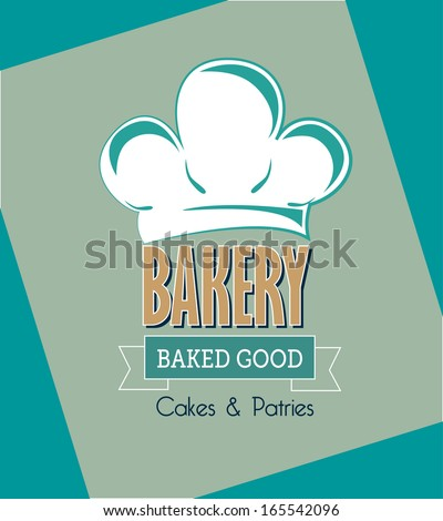 bakery design over blue  background vector illustration   - stock vector