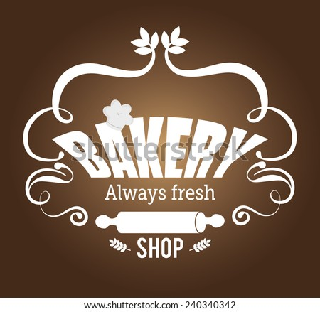 Bakery design over brown background, vector illustration.