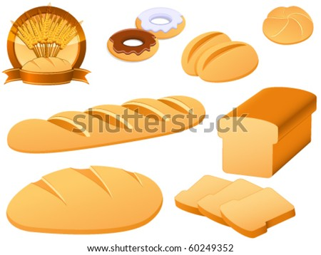 bakery icon set - vector illustration