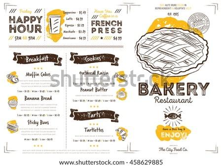 Bakery menu design bakery hand drawn stock vector 458629885 bakery menu design and bakery hand drawn vector illustration thecheapjerseys Images