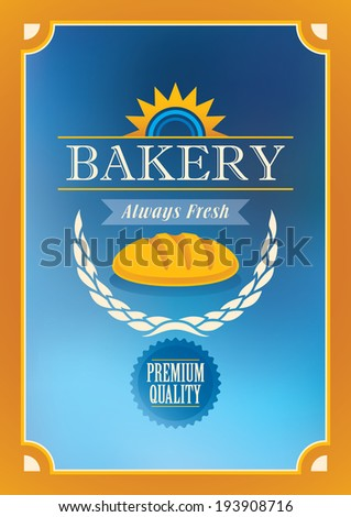 Bakery poster design in color. Vector illustration. - stock vector