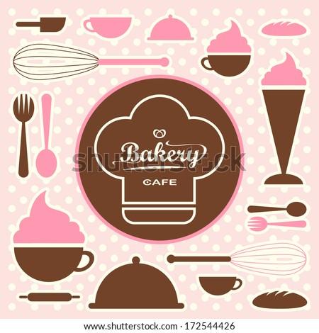 Bakery set vector sixty five - stock vector
