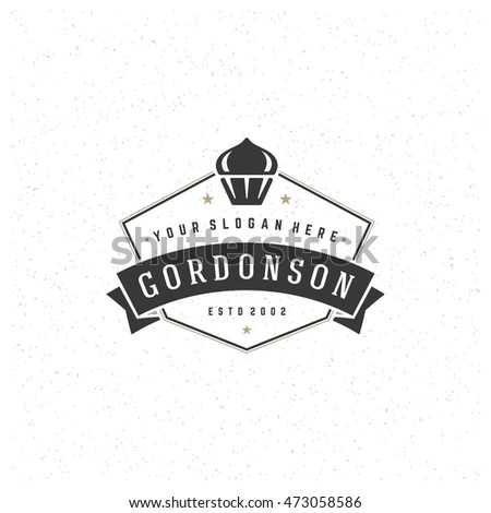 Baking logo stock images royalty free images vectors shutterstock bakery shop logo template vector design element vintage style for logo or label cupcake pronofoot35fo Image collections